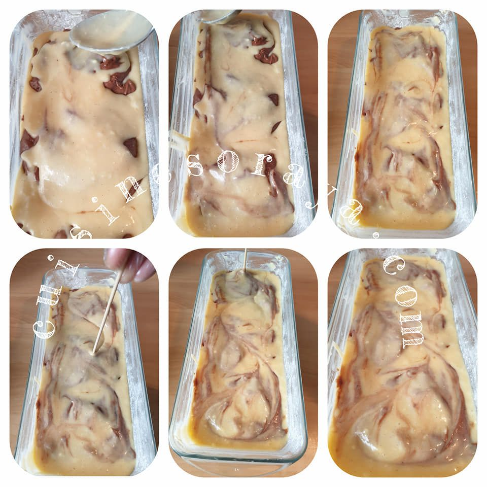 Cake marbré glaçage rocher