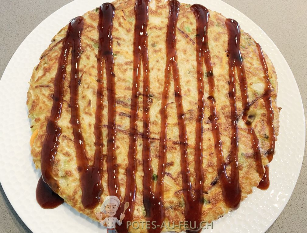 Okonomiyaki - Omelette japonaise