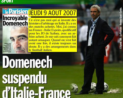 Domenech suspendu d'Italie-France