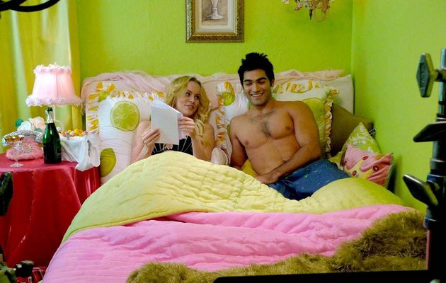 """TYLER HOECHLIN  shirtless in Behind the scenes  of """"Melvin Smarty"""""""