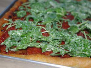 Pizza a taglio con rucola