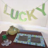 """The easiest """"lucky"""" banner for St. Patrick's Day and bonus craft supplies"""