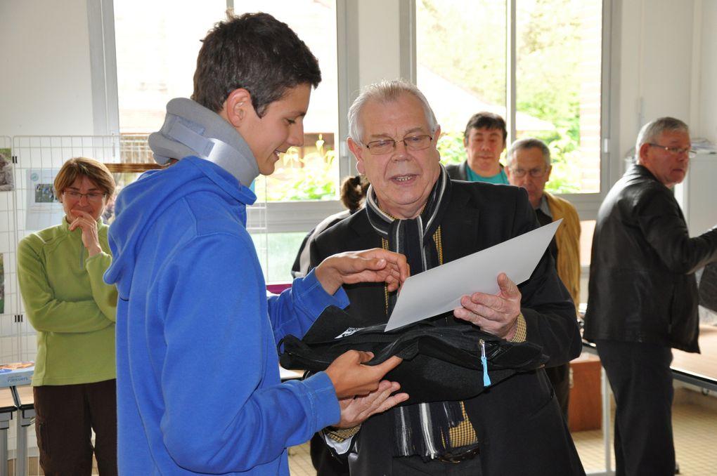 Remise des récompenses du prix de la sportivité au Collège Jean-Claude Dauphin de Nonancourt