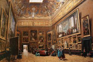 Flânerie dans le Salon Carré du Louvre (2)