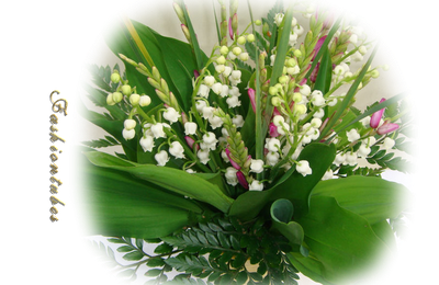 bouquet composé muguet(tube misted)