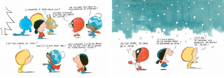 Les Quiquoi et le bonhomme de neige... Laurent RIVELAYGUE et Olivier TALLEC – 2017 (BD) (Dès 6 ans)