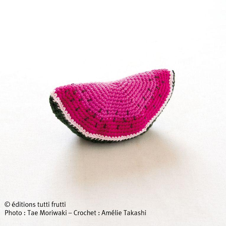 Voici les créations d'Amélie Takashi dans son livre Crochet gourmand. Photos de Tae Mariwaki