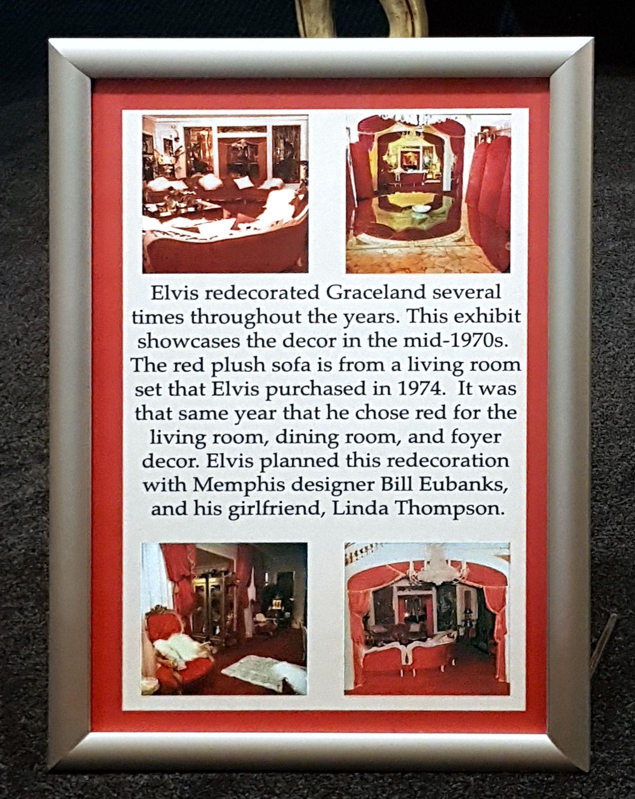 Graceland décoration rouge