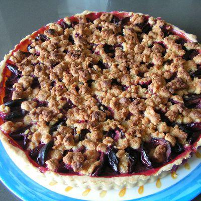 Tarte streusel alsacienne aux prunes et à la cannelle