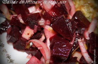 Salade de betterave et radis noir.