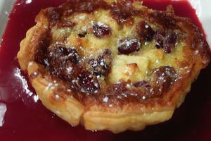 tartes pommes & cranberries à la crème mascarponée et safranée