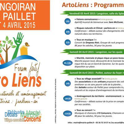 Forum festif les 3 et 4 Avril 2015 : ArtoLiens