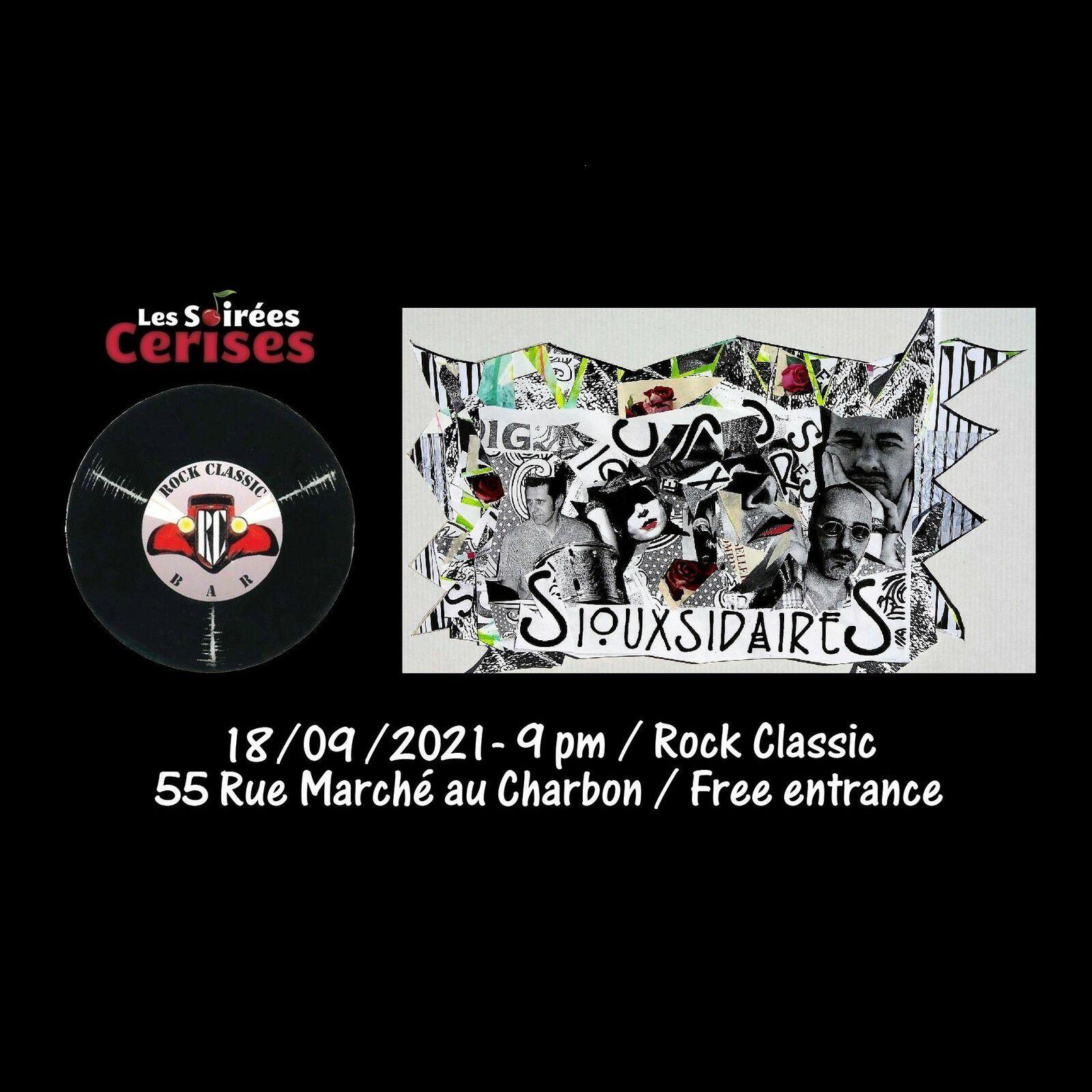 🎵 Siouxsidaires (Siouxsie & the Banshees tribute band) @ Rock Classic - 18/09/2021 - 21h00 - Entrée gratuite / Free entrance