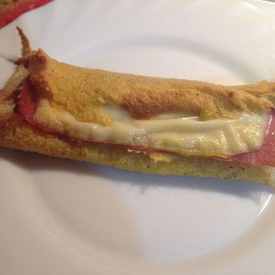 Croques-rolls perdus au jambon et fromage
