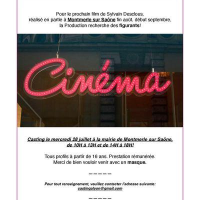 Montmerle sur saône : casting cinéma mercredi 28 juillet