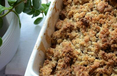 Crumble pommes coing #sansgluten