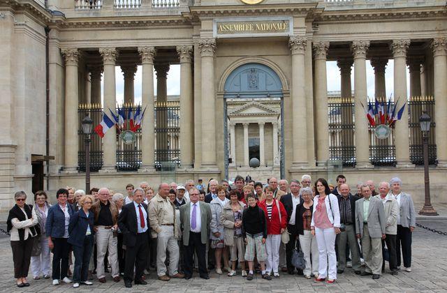 Voyage à Paris - Mercredi 6 Juillet- Rencontre avec Gérard Lorgeoux, député & visite de l'Assemblée Nationale