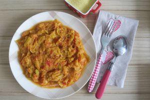 Poireau et tomate à la semoule, M Cuisine ou pas -light