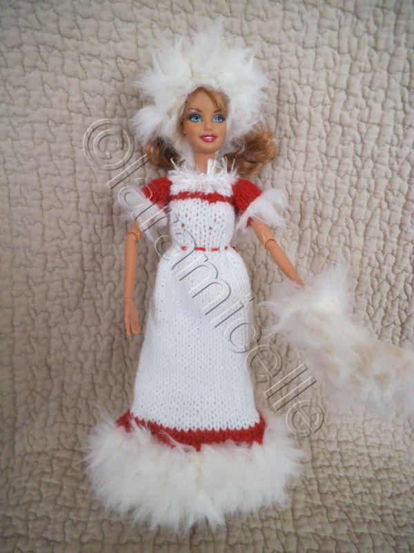 tuto gratuit barbie: robe barbie princesse de NOËL
