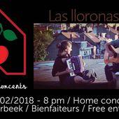 St-Valentine's HOME CONCERT avec les Las LLoronas @ Schaerbeek (Bienfaiteurs) le mercredi 14 février