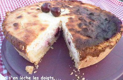 Gâteau de fromage blanc aux cerises