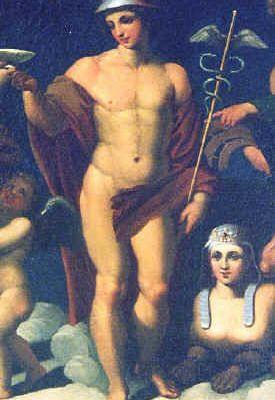 Hermès, le foulard, la valise (le sac) et le dieu