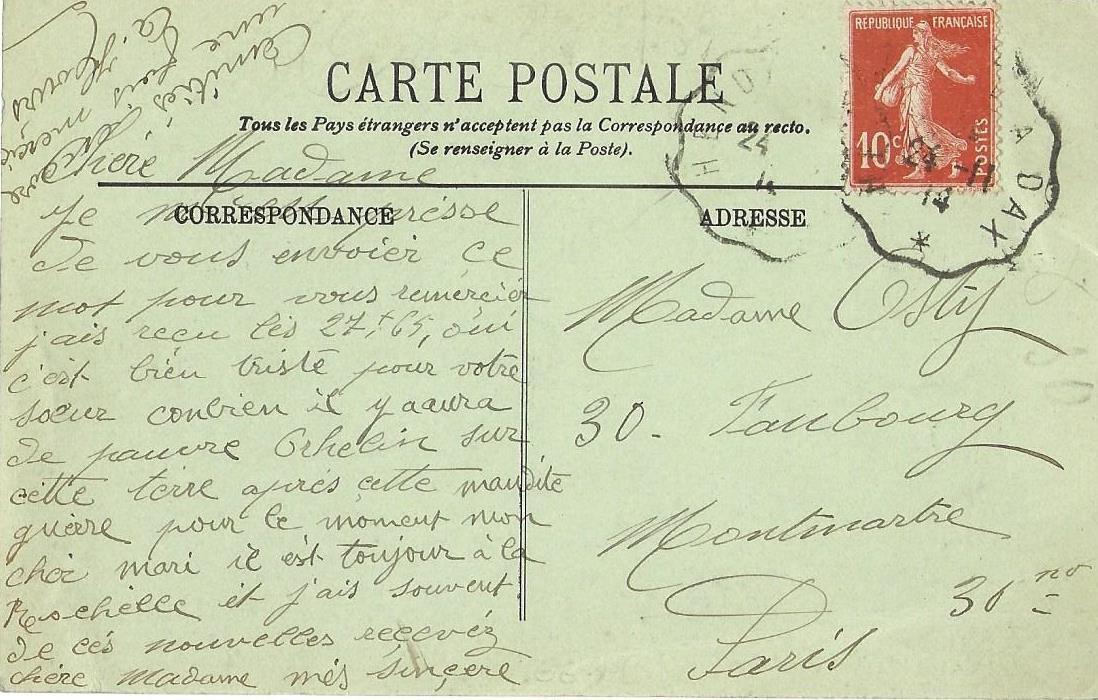Oblitération 1914.