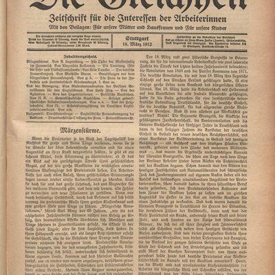 Tempêtes de mars, article de Rosa Luxemburg sur le 18 mars 1848 en Allemagne et sur la Commune. Sur le site Agone, rubrique  Au jour le jour..