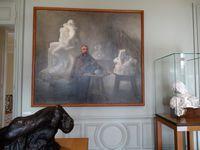 1) Rodin dans son atelier - R.Avigdor 1897/98 - Huile sur toile  2) Buste de Rodin par Antoine Bourdelle  3) Auguste Rodin au turban par J.Paul Laurens vers 1885 huile sur toile