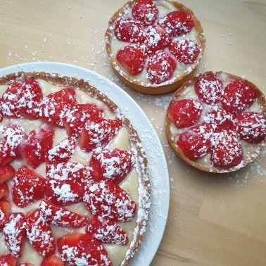 Tarte aux fraises Cyril Lignac