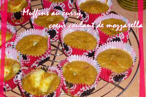 Muffins au curry coeur coulant de mozzarella