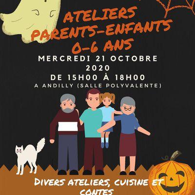 Activités Parents-enfants (0-6 ans) autour d'Halloween - le mercredi 21 octobre 2020
