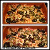 Gratin de macaronis au brocolis - La cuisine de poupoule