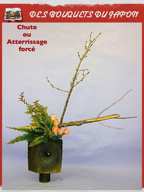 Bouquets réalisés par  Mme ATSUKO TSUBOI Diplômée des beaux arts de Tokyo et de l'Ecole Sogetsu