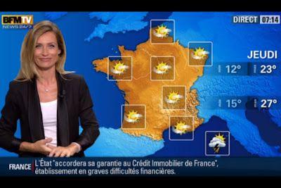 [2012 09 02] SANDRA LARUE - BFM TV - LA METEO @07H14