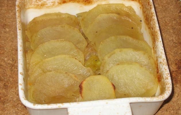 Gratin de pommes de terre aux poireaux