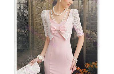Robe rose fluo jennyfer