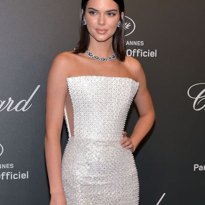 Kendall Jenner steals the present in dramatic leg-flashing dress in Cannes…but makes bizarre vogue alternative of sporting POP SOCKS underneath her stilettos