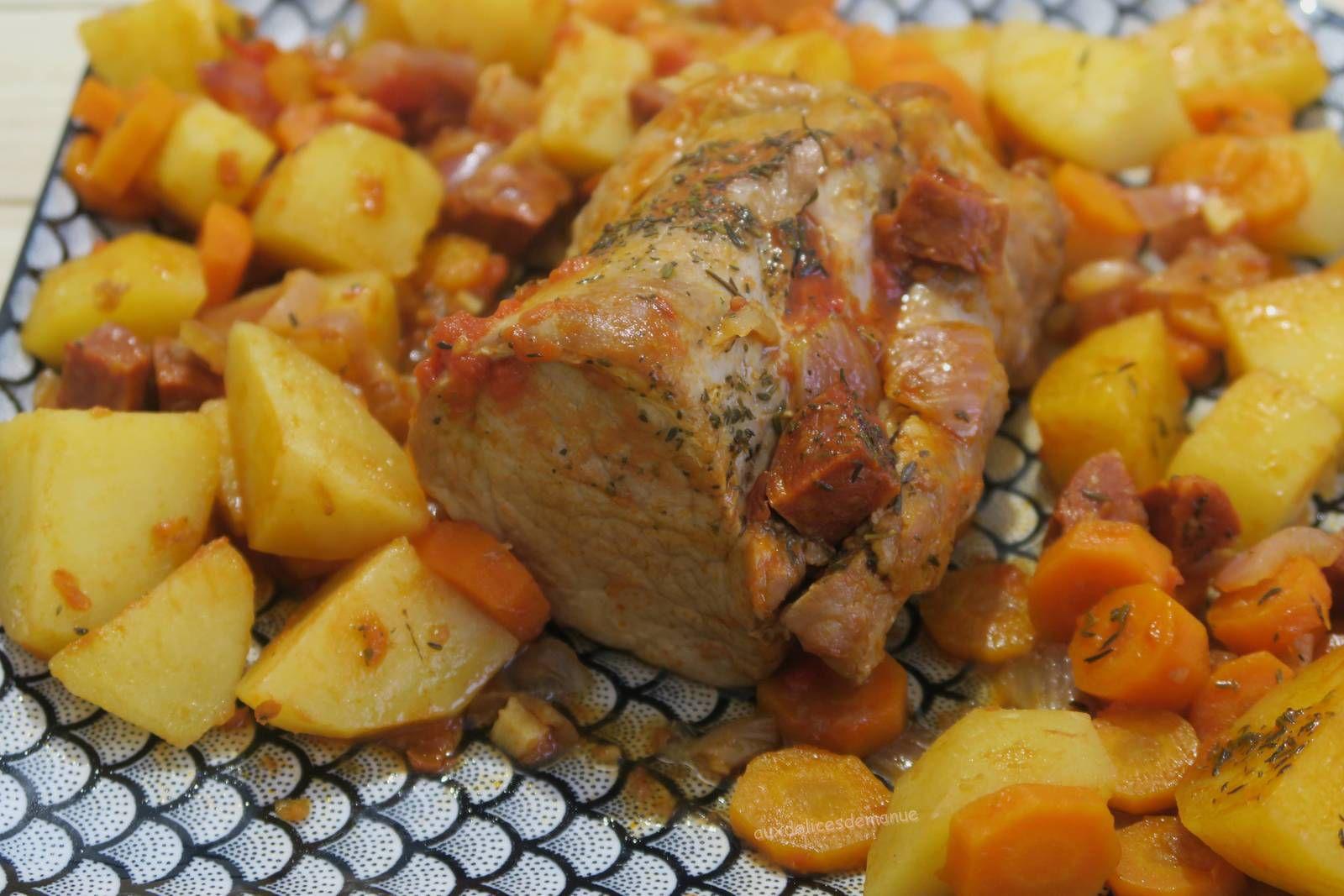 Filet mignon de porc aux carottes, pommes de terre et chorizo, au Cookéo ou pas