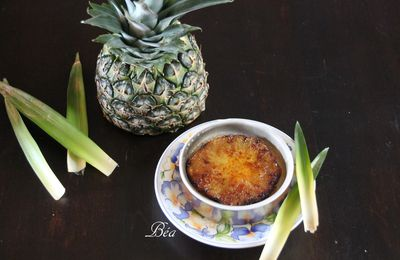 Crème brûlée à l'ananas rôti (version légère)