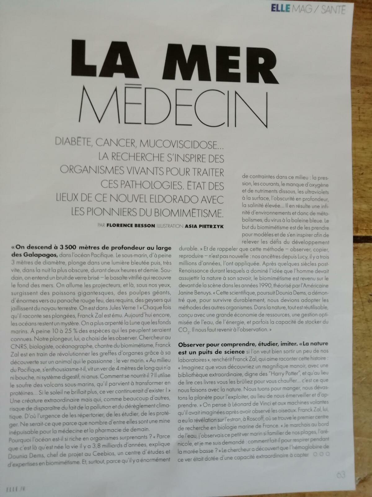 Vu et lu dans Elle du 15/01/21, l'Usine Nouvelle n° 3677 du 08/10/20, et Télérama n° 3708 du 03/02/21