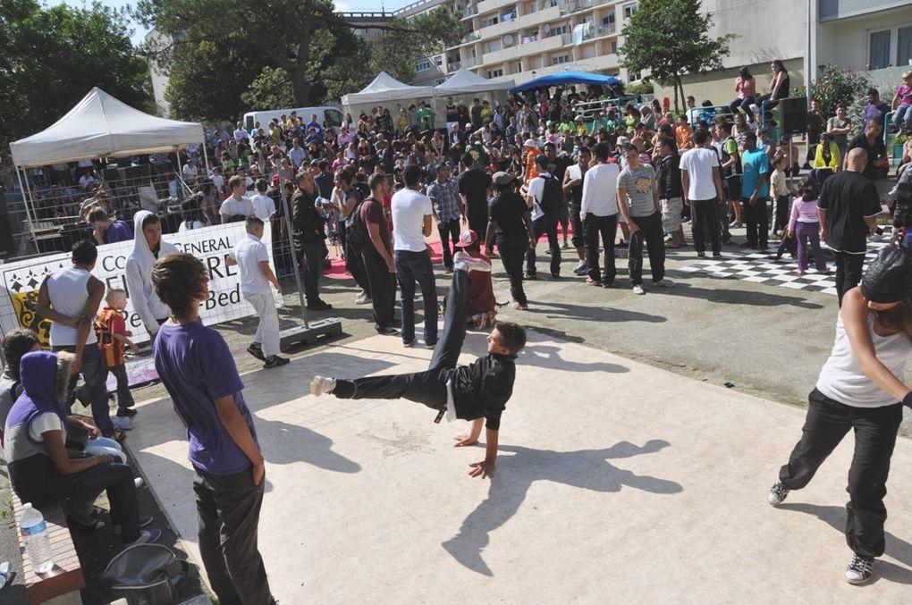 Rencontre régionale de hip-hop, place d'Ecosse à Kermoysan Quimper.