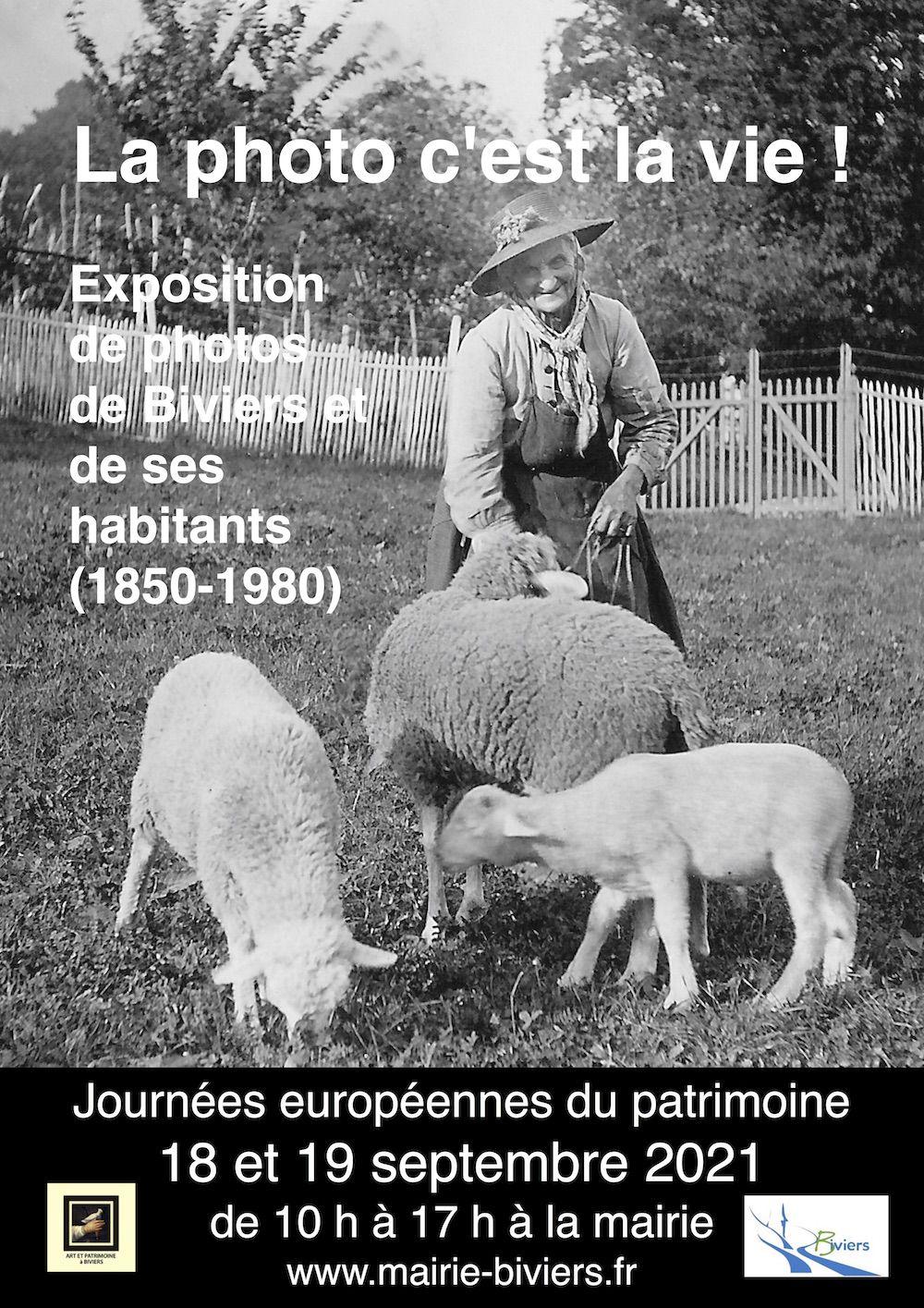 """Journées du Patrimoine 2021 , expo """"La photo c'est la vie"""" à Biviers"""