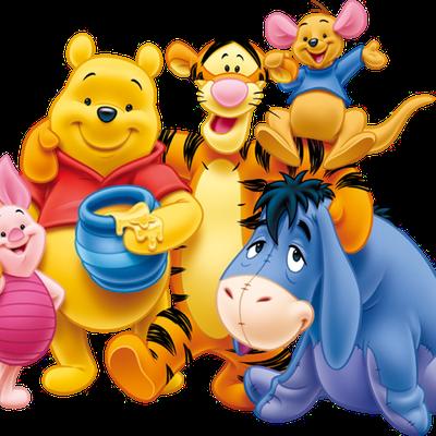 Winnie the Pooh - Porcinet - Tigrou - Petit Gourou - Bourriquet - Disney - Render-Tube - Gratuit