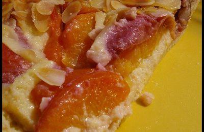 Tarte italienne pêche/nectarine/amaretti