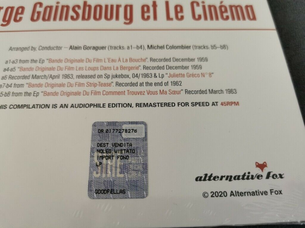 33t Serge Gainsbourg avec Brigitte Bardot en couverture