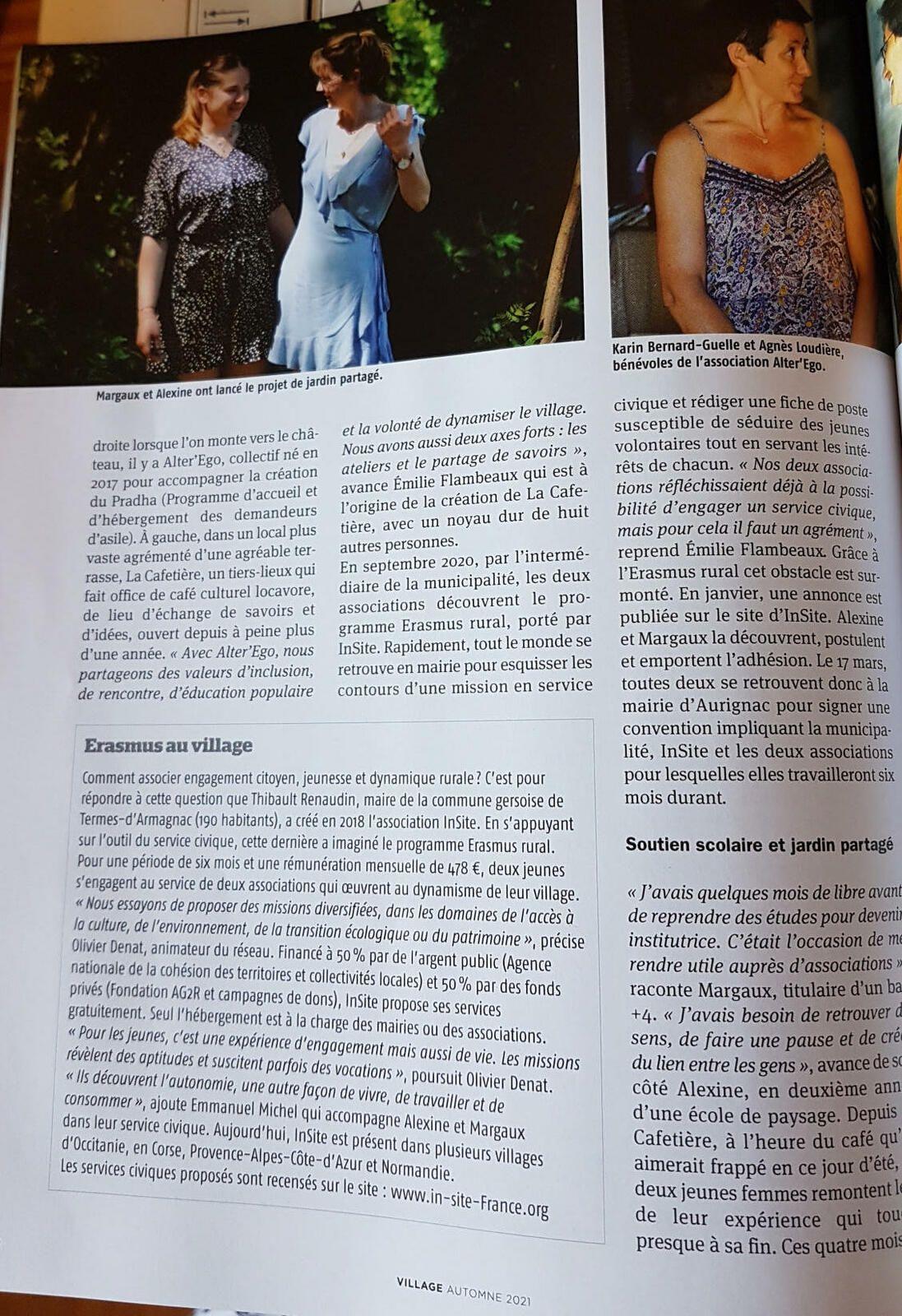 Aurignac - Des jeunes au service du village - Dans le magazine Village Septembre 2021
