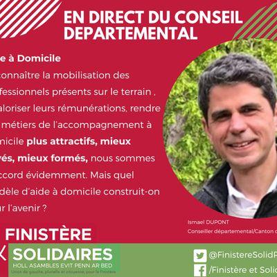 Conseil départemental du Finistère, 21 octobre 2021 - Interventions d'Ismaël Dupont