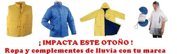 Paraguas para publicidad y ropa de lluvia