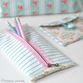Pretty Lace Zip Pencil Case Tutorial